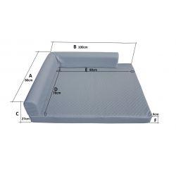 Folding mattress cover 195x65x10 cm - 1021