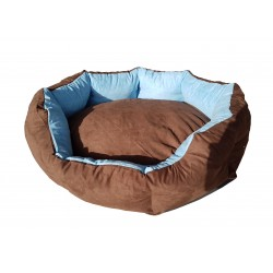 Dog bed Nora- size S - brown/blue