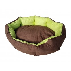 Dog bed Nora- size M - brown/green