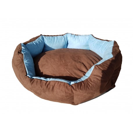 Dog bed Nora size L - brown/blue