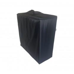 Water repellent storage bag for folding mattress 195x65x8 cm black