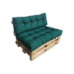 Pallet Seating Cushions Set green