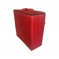 Water repellent storage bag for folding mattress 195x65x10 cm red