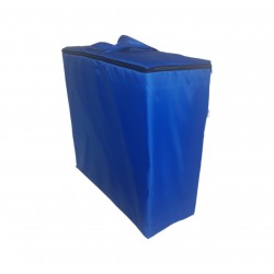 Water repellent storage bag for folding mattress 200x70x10 cm blue
