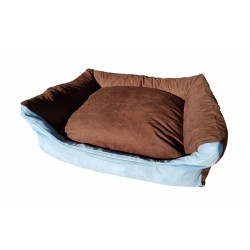 Dog bed Max- size L - brown/blue