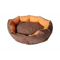 Dog bed Nora- size S - brown/orange